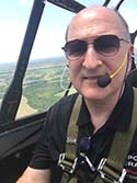 Stu in a T6 over Dallas